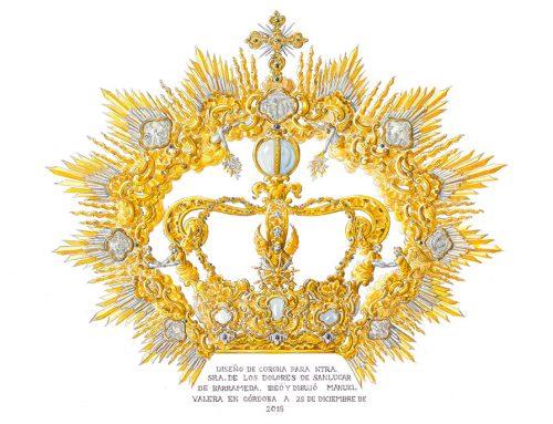 Donación de los zafiros para la corona de Coronación de Nuestra Señora de los Dolores